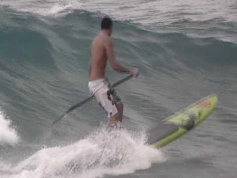 SUP - Stand Up Paddlesurfing at Lymans in Kona
