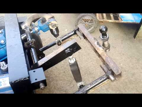 Навеска на минитрактор с ручным приводом