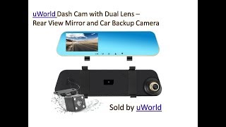 REARVIEW MIRROR Dash Cam and how to fix Backup Camera