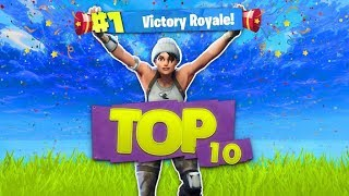 DE TOP 10 MEEST EPISCHE VICTORY ROYALE'S!! - Fortnite Battle Royale Top 10 (Nederlands)