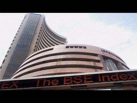 Sensex down 10 points, Rupee gains 9 paise against Dollar