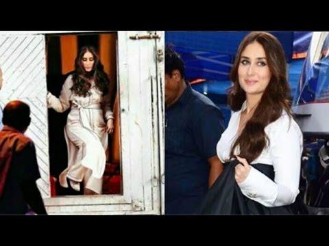 Pregnant Kareena Kapoor Khan GLOWS Like Never Before While Shooting An Advertisement In Mumbai!