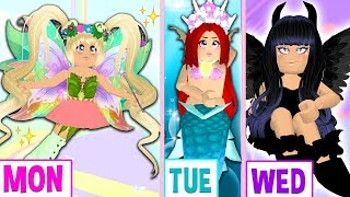 I Changed My Style EVERY DAY For A Week Challenge In Royale High... Royale High Outfit Challenge