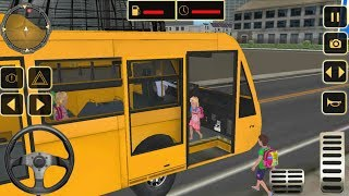 City High School Bus Driving Simulator Transport Children PRO | MY OLD SCHOOL BUS - Gameplay HD