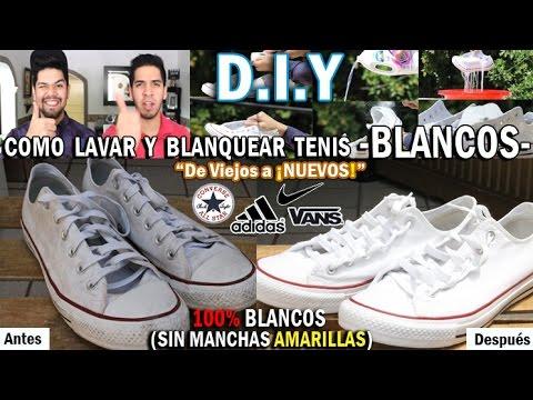 DIY: COMO LAVAR Y BLANQUEAR TUS TENIS BLANCOS | FÁCIL Y RÁPIDO