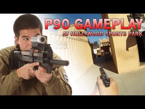 Airsoft Action with FN Herstal P90 & Blackwater 1911 at HSP - Airsoft GI