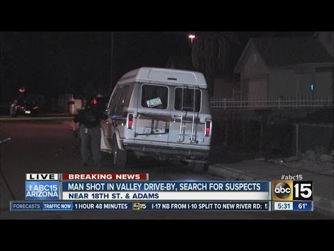 Man shot in Phoenix drive-by. search for suspects