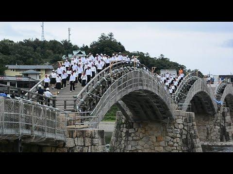 錦帯橋の強度試験 山口・岩国