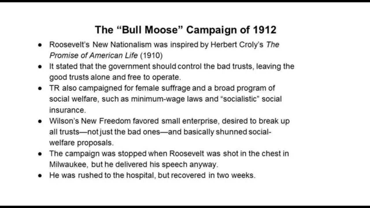 wilsonian progressivism at home and abroad chapter 29 - wilsonian progressivism at home and abroad, 1912-1916 i the bull moose campaign of 1912 1 with the republican party split wide open, the.
