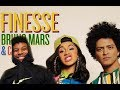 Lagu Bruno Mars - Finesse (Remix) Feat. Cardi B (ReactionReview) #Meamda