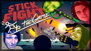 Jogando Stick Fight: The Game - Buracos Negros, Mortes e Pudim Aranha!