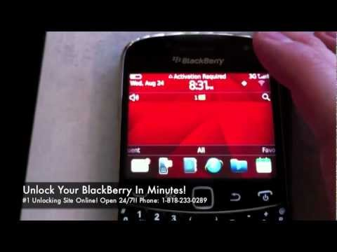 How to Unlock BlackBerry Bold 9930 (9900) for all Gsm Carriers using an Unlock Code