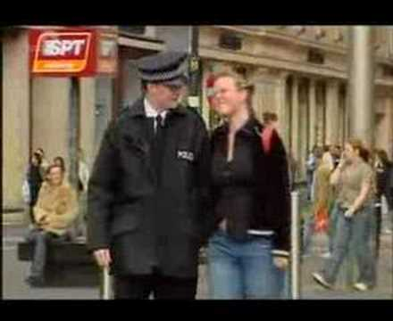 Hidden camera - romancing policeman