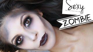 Glamorous Sexy  Zombie Makeup Halloween Tutorial 2014