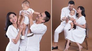 Vợ chồng Lương Thế Thành Thúy Diễm tung bộ ảnh kỷ niệm 3 năm ngày cưới ngọt ngào bên  bé Bảo Bảo