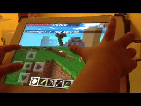 Minecraft PE : multiplayer with creeper girl ( part 3 )