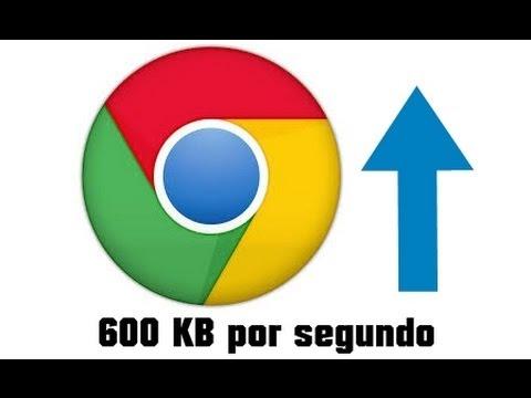 Nuevo método: Aumentar la velocidad de descarga Google Chrome 600 kb a más de 1 MB por segundo