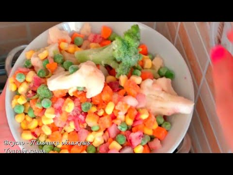 Простейший суп с замороженными овощами