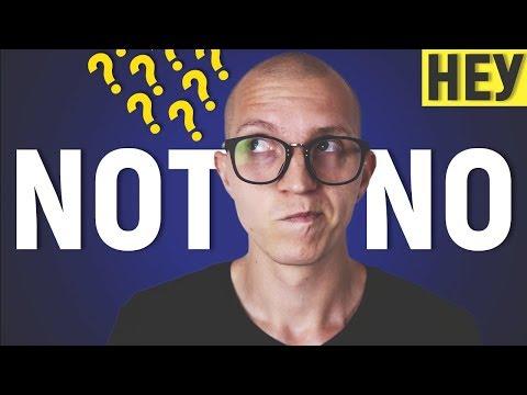 Отрицания в английском: NO или NOT? Разница в употреблении [НЕУ #15]