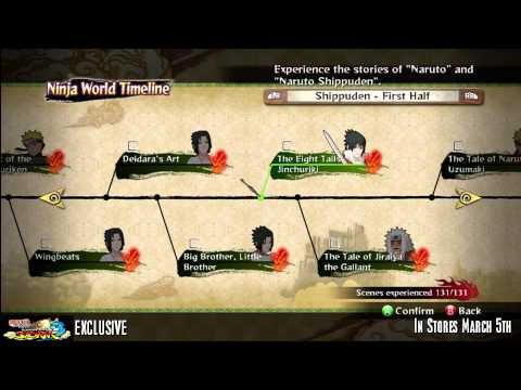 Naruto Ultimate Ninja Storm 3 All Ninja World Timeline Page Locations