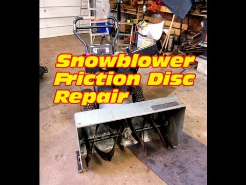 HOW TO - Drive Disc Replacement on Older Craftsman Snowblower