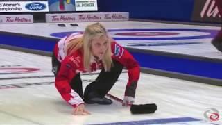 Jennifer Jones Canada Curling Unbelievable Shot