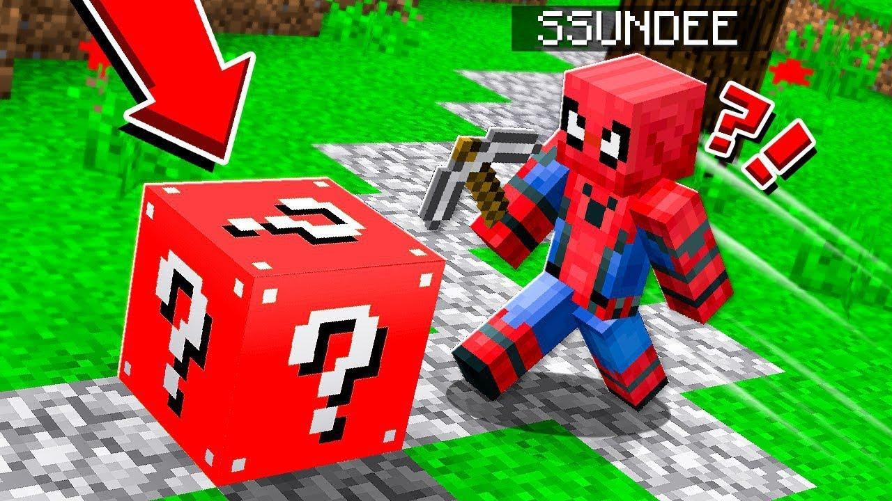 SPIDER MAN LUCKY BLOCK CHALLENGE   *LEGENDARY* SUPERHERO in Minecraft!!!!