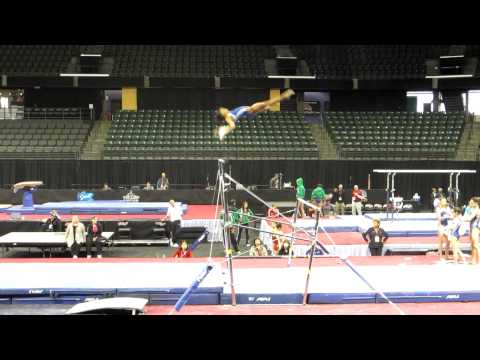 Gaby Douglas&#039; gorgeous - and upgraded! - bar routine - 2012 Kellogg&#039;s Pacific Rim Championships Podium Training