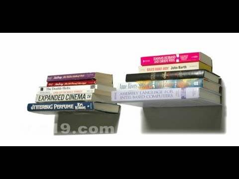 Floating books? Conceal Shelves make your books levitate.
