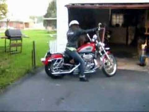Me riding my harley davidson sportster Video