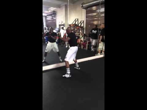 Floyd Mayweather Training at the Mayweather Boxing Gym Image 1