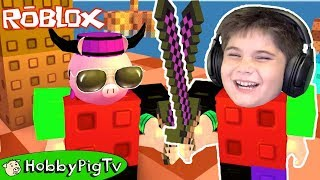 Roblox Would You Rather and Noob Invasion HobbyPigTV