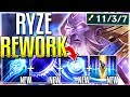 WAIT..NEW RYZE REWORK IS ACTUALLY OP! TRUE DMG Qs! Ryze Rework Gameplay - League of Legends MP3