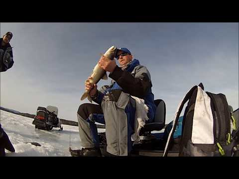 New Hampshire Ice Fishing - Lake Winnipesaukee Ice Fishing March 2014