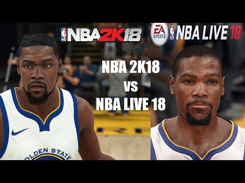 NBA 2K18 vs NBA LIVE 18 | Graphics/Face/Gameplay Comparison