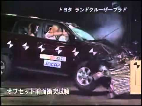 Vehicule  Crash Test 2010 - 20__ Toyota Prado Landcruiser _ Lexus GX  Frontal Offset) JNCAP-Extreme