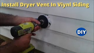 (17.0 MB) How to Install  Dryer Vent  and Make a Hole on Vinyl Siding Step by Step Mp3