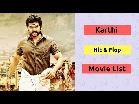 Karthi Hits and Flops Movie List | Actor Karthi All Movies Box Office Collection