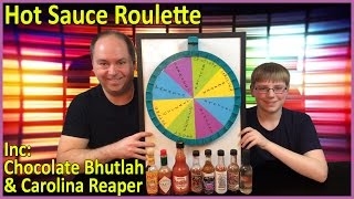 Hot Sauce Roulette : Chocolate Bhutlah, Carolina Reaper, Extract Challenge : Crude Brothers