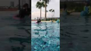swim session at aunty len's
