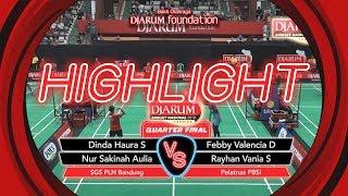 Dinda Haura S/Nur Sakinah A(SGS PLN Bandung) VS Febby Valencia D/Rayhan Vania S (Pelatnas PBSI)