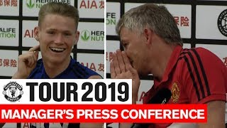 Manchester United | Solskjaer & McTominay | Tottenham Hotspur Pre-Match Press Conference | Tour 2019