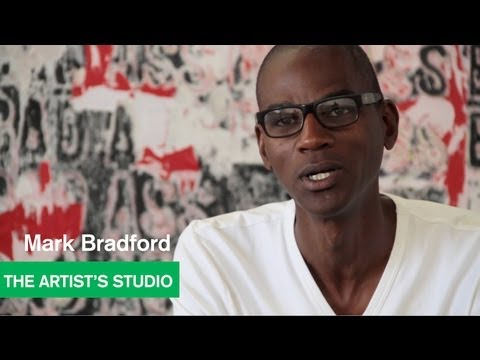 """Bad Ass"" Painting by Mark Bradford in the Studio - The Artist s Studio - MOCAtv"