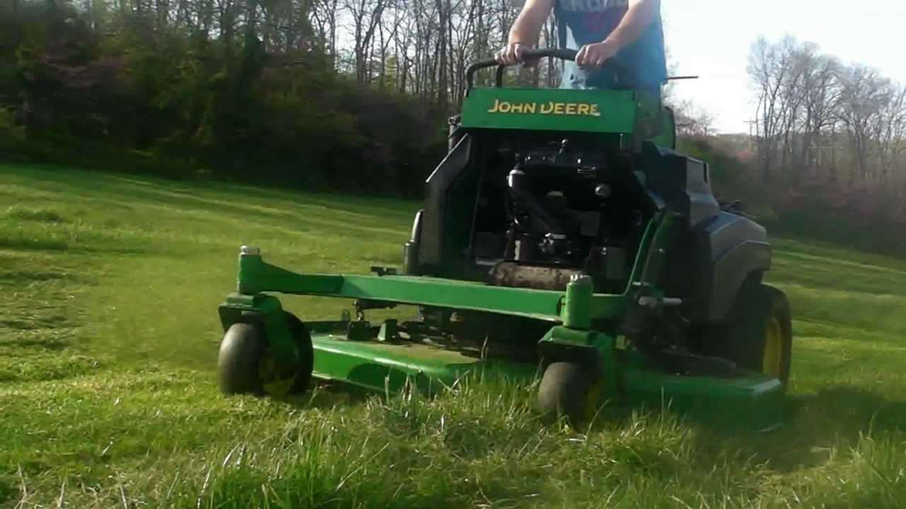 John Deere 667a Stander Commercial Lawn Mower Mowing