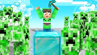 MINECRAFT But CREEPERS SPAWN Every MINUTE! (Insane)