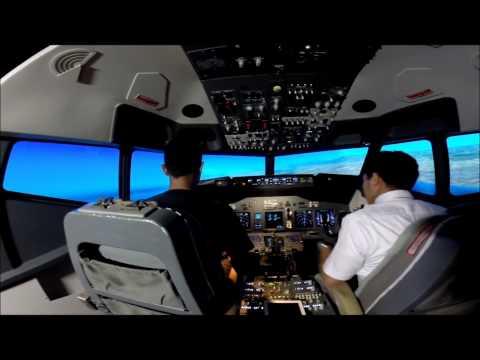 Boeing 737-800 Flight Simulator, Full Flight from Labuan Airport to Kota Kinabalu Intl. Airport