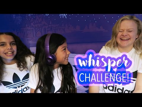 THE WHISPER CHALLENGE with Mia the gymnast and Arden | Txunamy