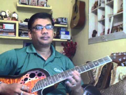 Jodi Tor Daak Shune Keu Na Ashe On Guitar video