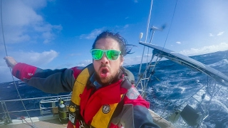 Sailing the Roaring 40s in 30 foot Waves!  Sailing SV Delos Ep. 107
