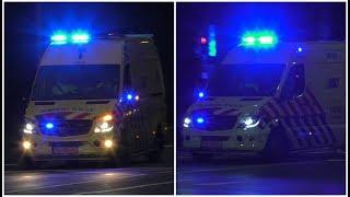 2x A1 Ambulance 20-143 met spoed naar Santpoortplein & Lieve-Vrouweplein in Tilburg